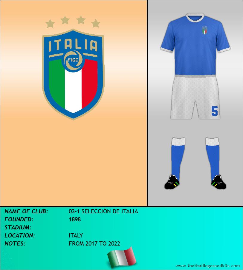 Logo of 03-1 SELECCIÓN DE ITALIA
