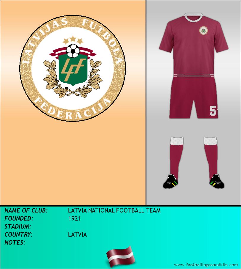 Logo of LATVIA NATIONAL FOOTBALL TEAM