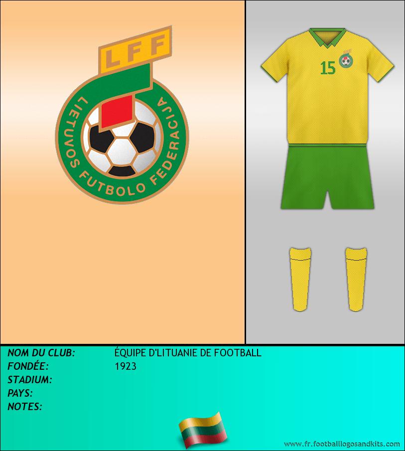 Logo de ÉQUIPE D'LITUANIE DE FOOTBALL
