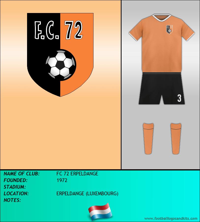 Logo of FC 72 ERPELDANGE