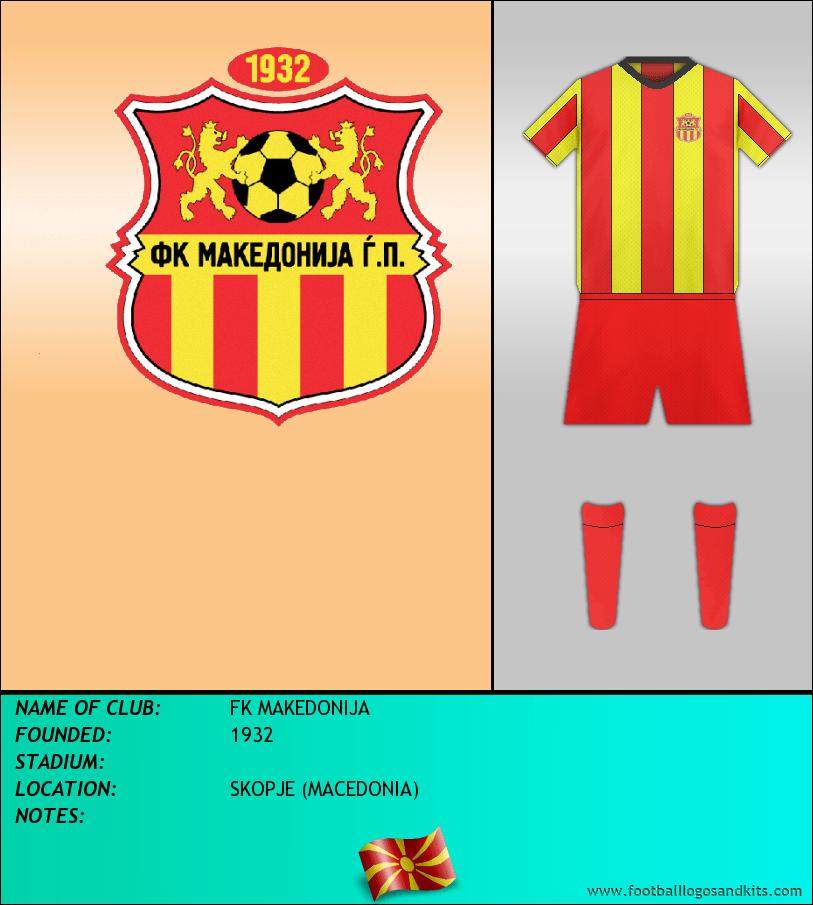 Logo of FK MAKEDONIJA