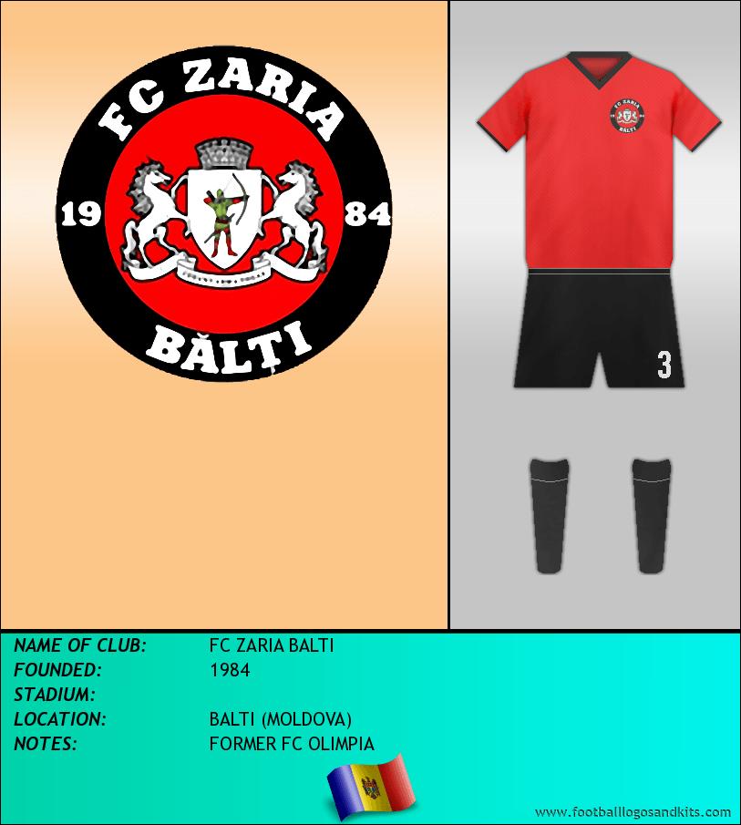 Logo of FC ZARIA BALTI