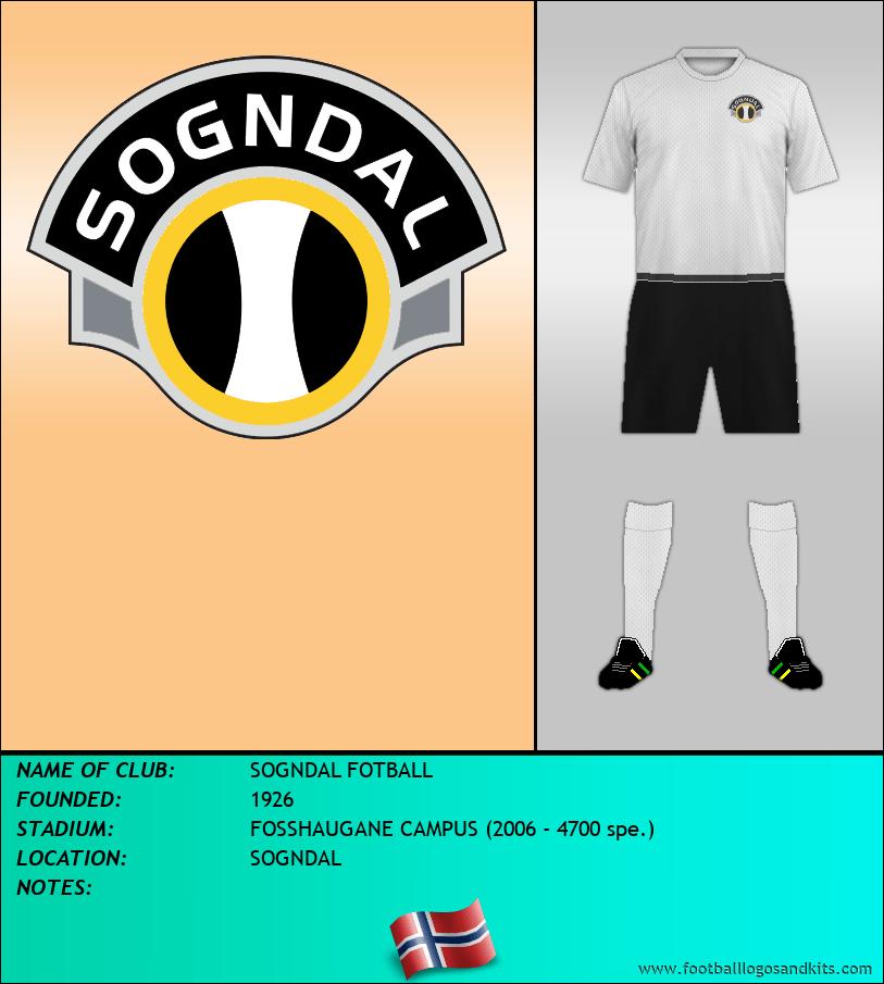 Logo of SOGNDAL FOTBALL
