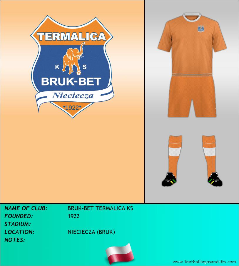 Logo of BRUK-BET TERMALICA KS