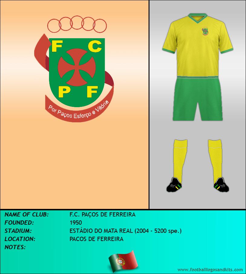 Logo of F.C. PAÇOS DE FERREIRA