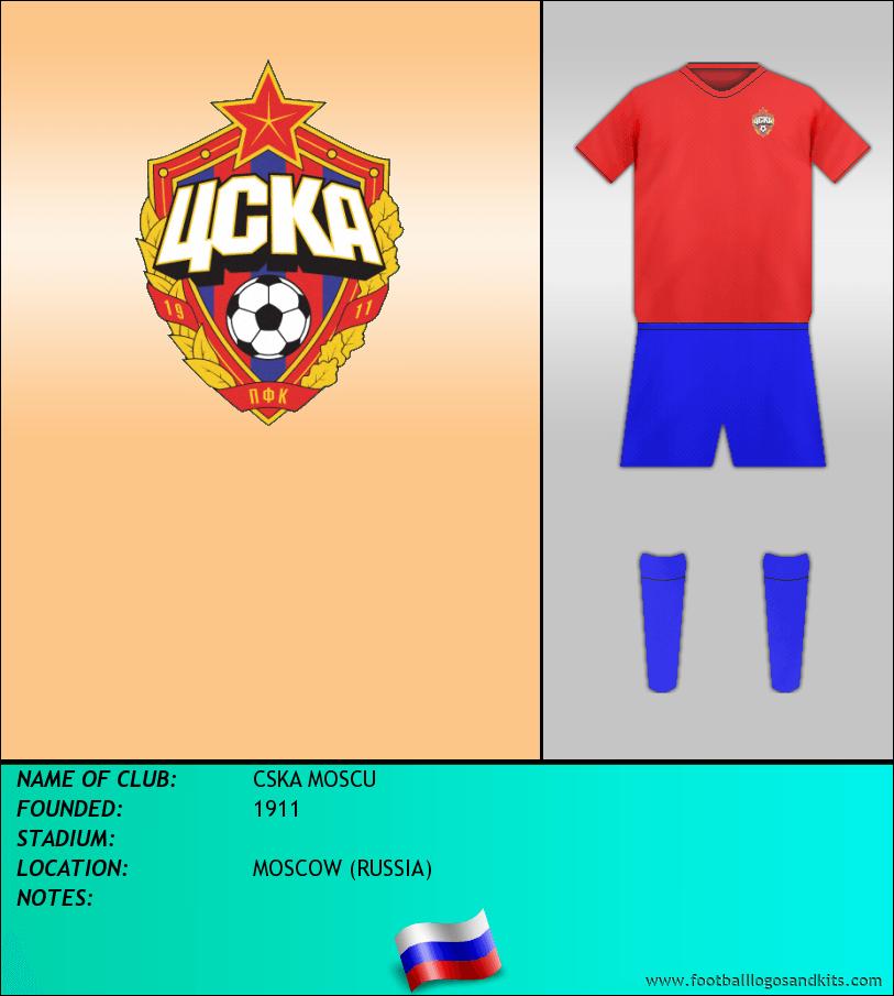 Logo of CSKA MOSCU