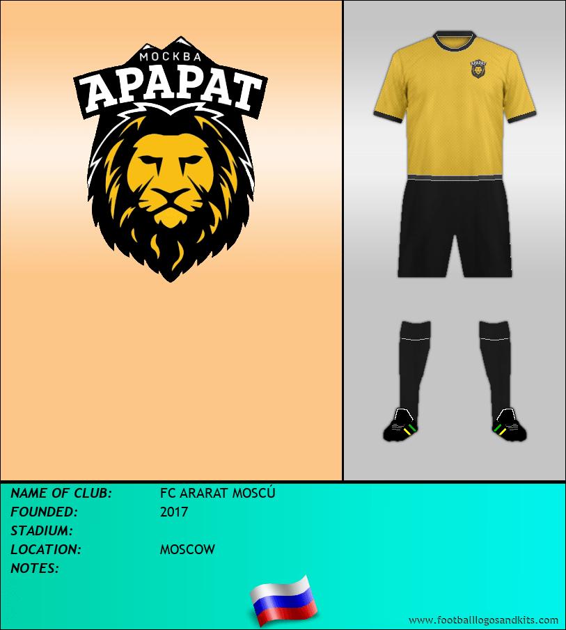 Logo of FC ARARAT MOSCÚ
