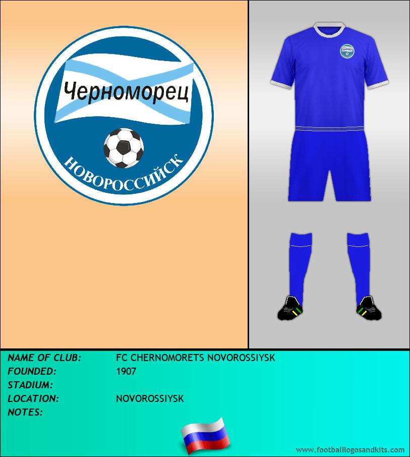 Logo of FC CHERNOMORETS NOVOROSSIYSK