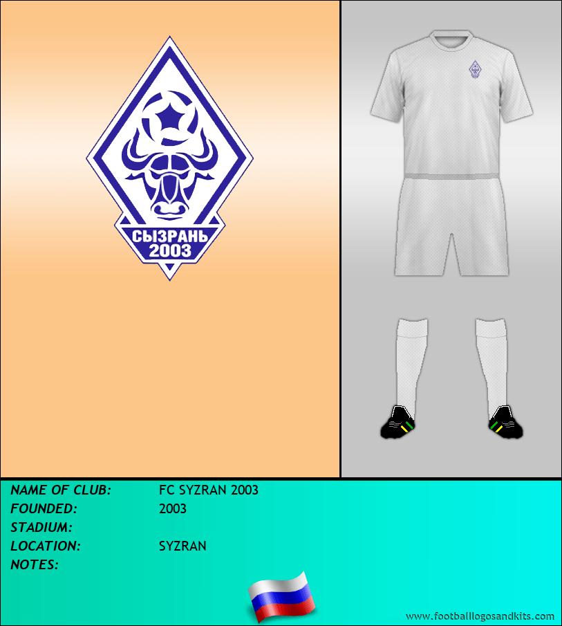 Logo of FC SYZRAN 2003
