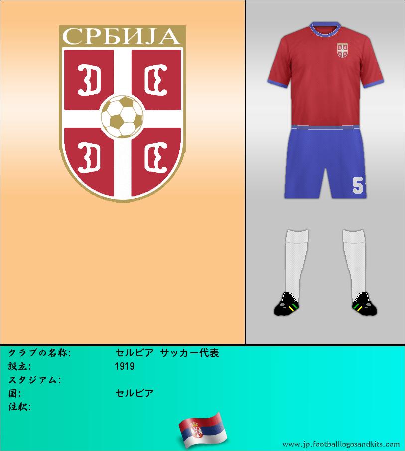 のロゴセルビア サッカー代表
