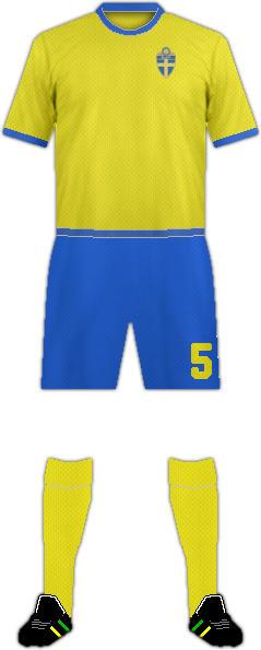 Kit SWEDEN NATIONAL FOOTBALL TEAM