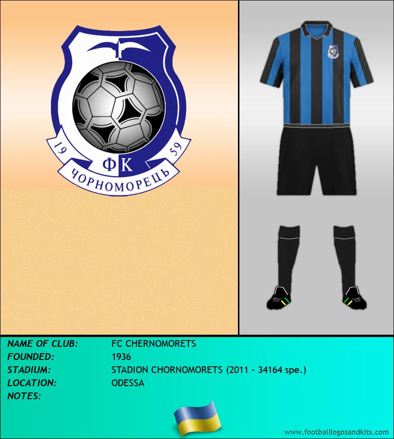 Logo of FC CHERNOMORETS